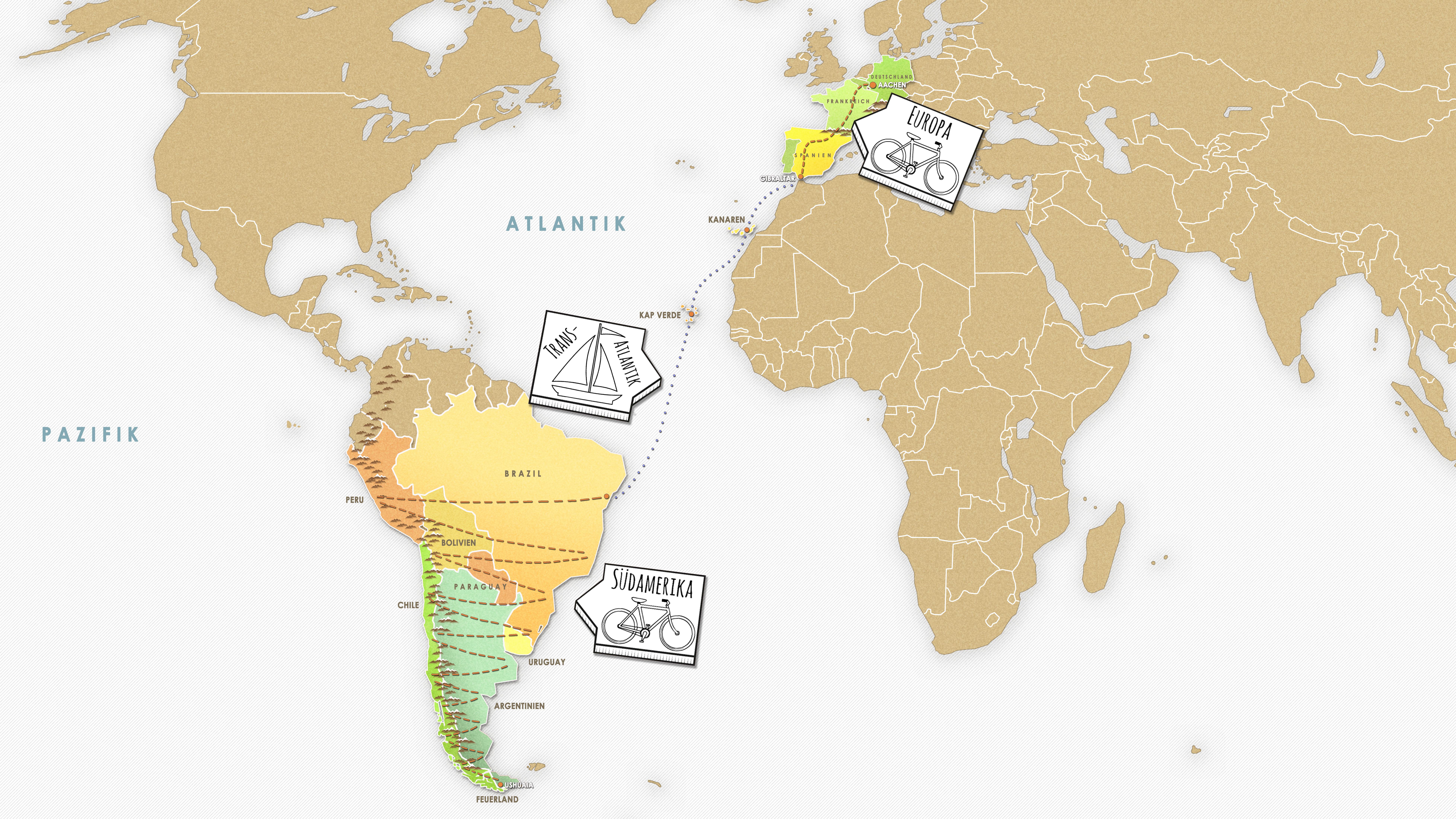 Karte-Patagonien
